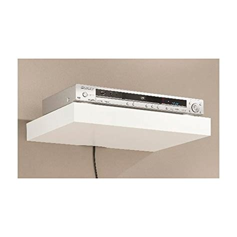 floating media shelf dolle big boy media floating shelf white 17x12x2 man