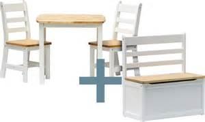 ensemble table et chaises enfant ilex avec coffre 224