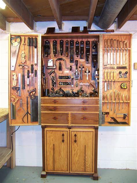 woodworking tool storage oak and walnut tool cabinet finewoodworking