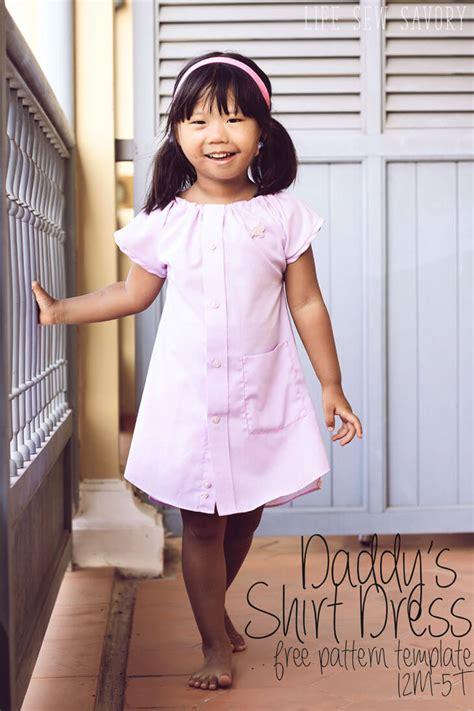 pattern shirt dress free daddy s shirt dress with free pattern life sew savory