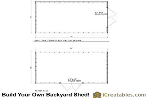10 X 20 Shed With Floor - 10x20 lean to shed plans icreatables