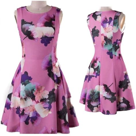 Flare Dress Orchid 60 naturally spiritual dresses skirts orchid purple fit and flare dress from s