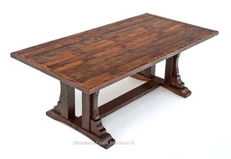rustic oak barn wood dining table reclaimed oak table
