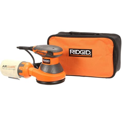 ridgid 5 in random orbital sander with airguard
