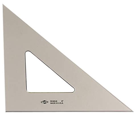 Triangle 8 8 Inchi By Alroy pack of 2 large transparent triangle set square 12 inch