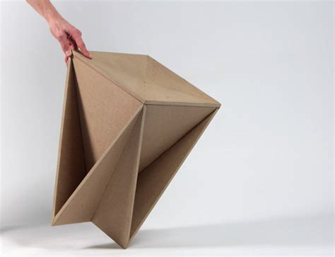 Origami Concept - stool concept tabouret origami guillaume allemon bed