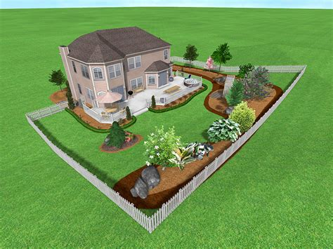 backyard landscaping plans landscape design software gallery page 5