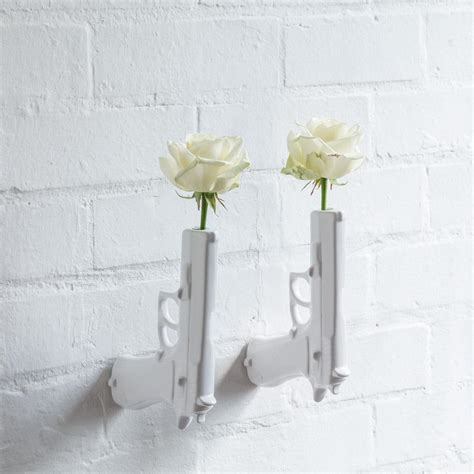 Modern Wall Vase by Gun Vase Wall Modern Decor And Objects
