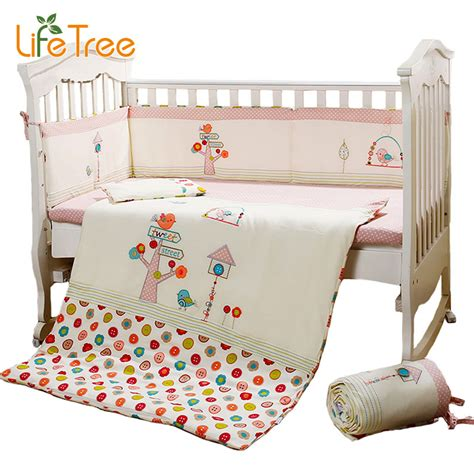 Stores That Sell Bedding Sets Aliexpress Buy 7pcs Set Cotton Pink Baby Bedding Set Crib Bedding Set For