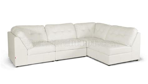 warren sectional sofa white bonded leather wholesale