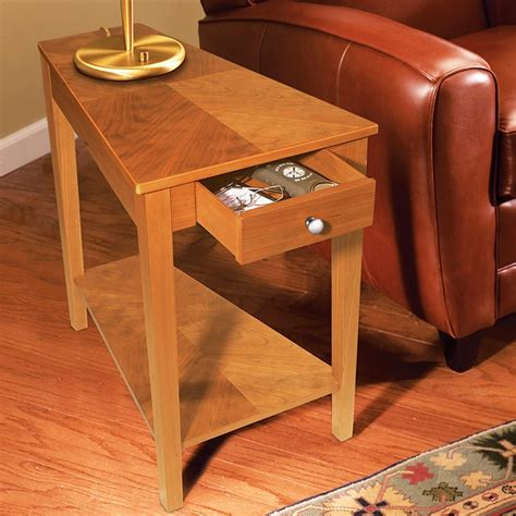 wedge  table  drawer woodworking projects plans
