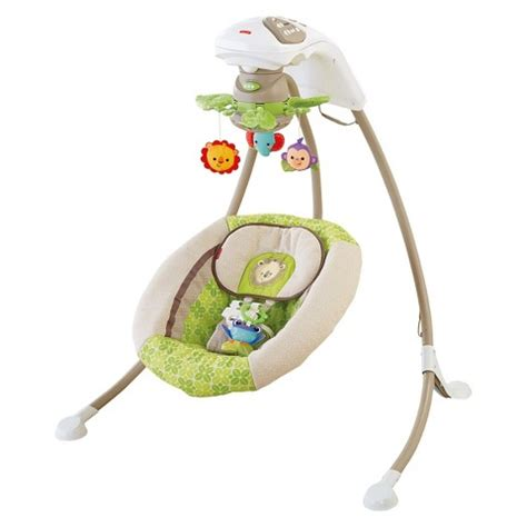 cradle n swing fisher price fisher price deluxe cradle n swing rainforest target