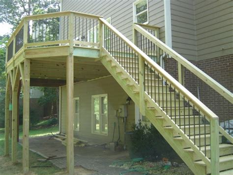 Build Stair Railing How To Build A Deck Railing On Stairs
