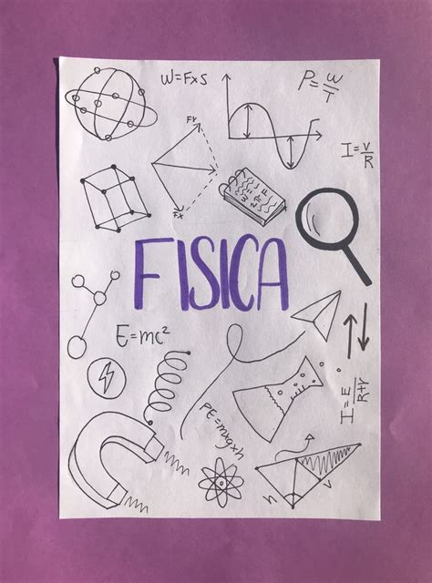idea portada de fisica portada de cuaderno de dibujos arte en cuadernos  portadas de cuadernos