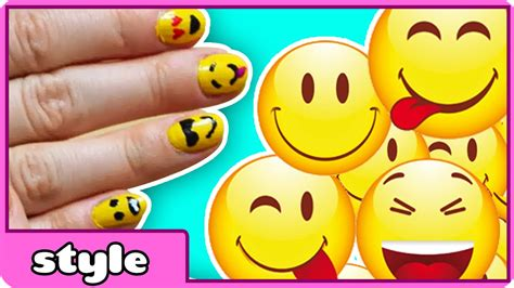 emoji nail art tutorial easy emoji nail art diy emoji nails tutorial youtube