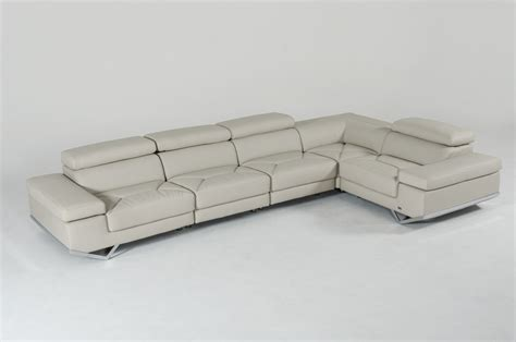 light grey sectional sofa divani casa kerria modern light grey eco leather sectional