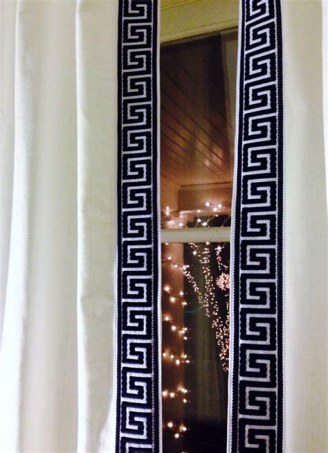 curtains with greek key trim greek key curtain trim pretty little details pinterest