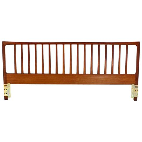 teak headboard king danish mid century modern teak king headboard bed at 1stdibs