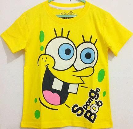 Kaos Anak Karakter Sponge Bob 1 6 kaos anak spongebob gigi dua 1 6 grosir eceran baju