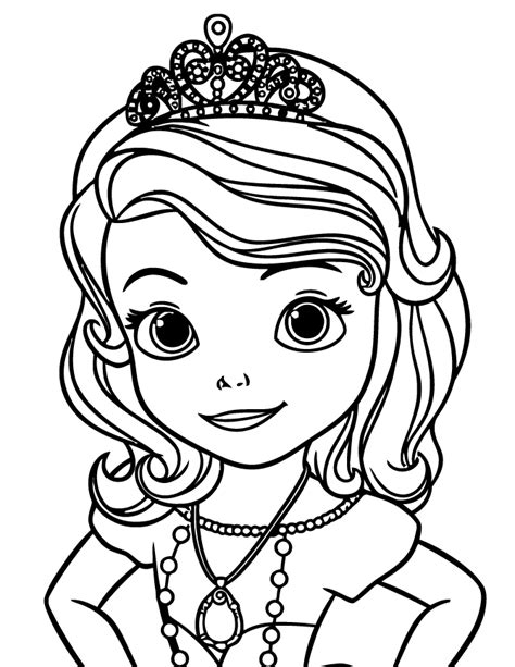 disney sofia the first coloring page h m coloring pages