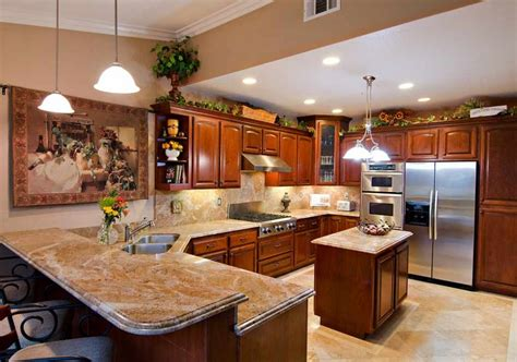 Counter Kitchen Design by Granite Kitchen Countertops This Two Tiered Granite