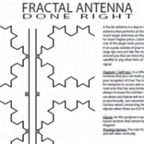 fractal tv antenna template fractal tv antenna lookup beforebuying