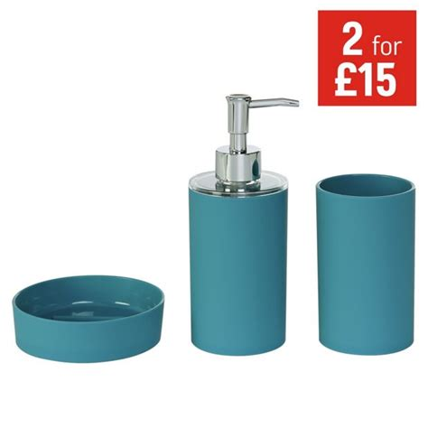 buy colourmatch accessory set teal at argos co uk your