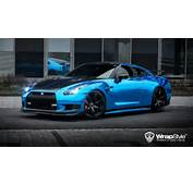 1000hp Nissan GT R Wrapped In Blue Chrome By WrapStyle  GTspirit