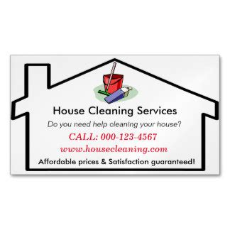 free referral card templates for cleaning house cleaning business cards templates zazzle