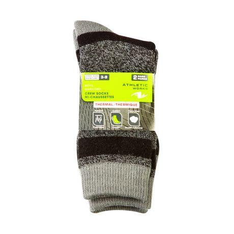 Orso Thermal Sport Socks 2pairs athletic works boys thermal crew socks 2 pairs walmart canada