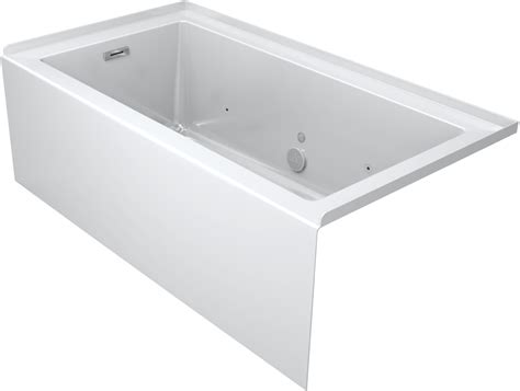 three wall alcove bathtub faucet com lns6032blr2hcw in white by jacuzzi