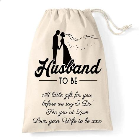 Personalised Wedding Gift Bag For The Husband To Be, A