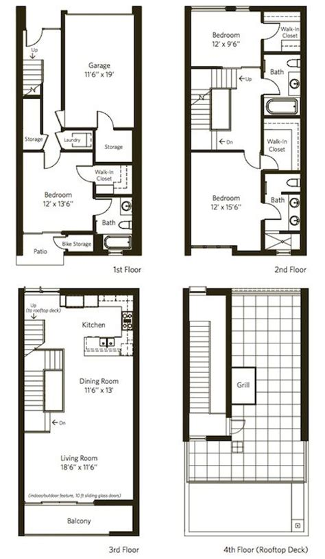 townhouse floor plan duplex floor plans townhouse floor plans and designs