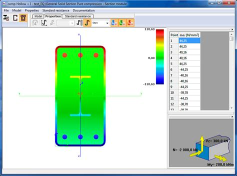 cross section analysis cross sections consteel software