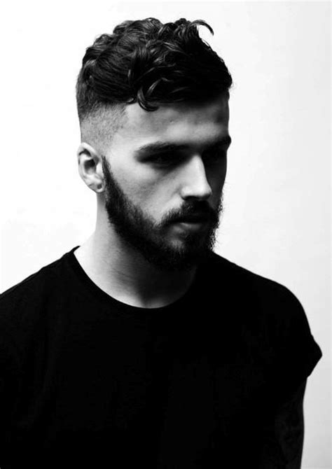 coupe de cheveux homme barbe 25 curly fade haircuts for manly semi fro hairstyles