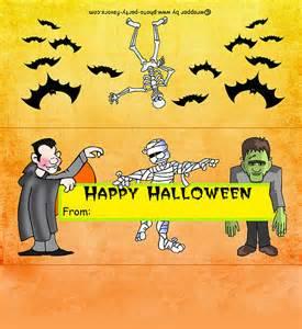 regular size monsters halloween candy bar wrapper free