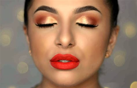 orange makeup tutorial warm eyes bold orange lip makeup tutorial makeup by