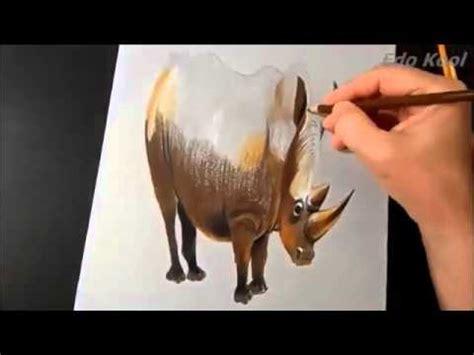 cara membuat replikasi virus 3 dimensi cara membuat gambar badak 3 dimensi menggunakan pensil