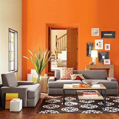 como decorar muros interiores interiores de casas color naranja