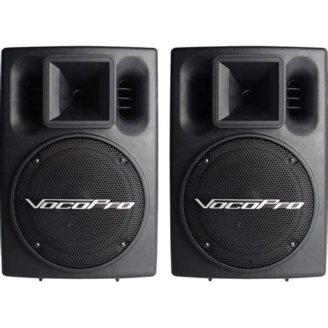 Speaker Vocal vocopro pv 802 400w powered vocal speaker system pv 802 pair