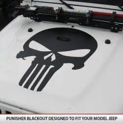 jeep wrangler punisher skull decal vinyl by alphavinyl
