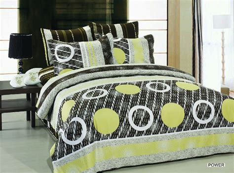 black and yellow bedding power 6pc full queen size bedding ensemble black grey