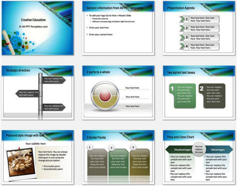 Powerpoint Creative Education Template Creative Ppt Templates Free