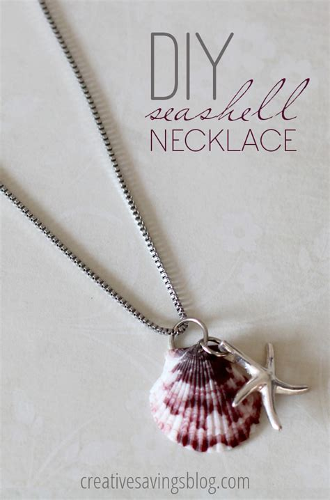 how to make jewelry with seashells diy seashell necklace make your own seashell jewelry
