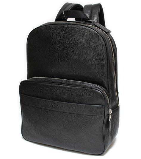 Tas Coach Hamilton Pebbled Leather Backpack Black Original Coach Hamilton In Leather Backpack On Sale 49