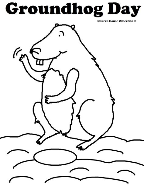 Groundhog Day Coloring Pages Groundhog Day Coloring Page
