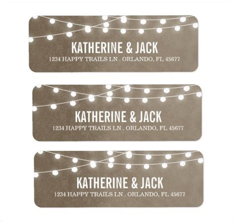 wedding address labels template 9 return address label templates sles exles