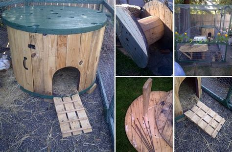 duck house ideas diy cable spool duck house home design garden architecture blog magazine