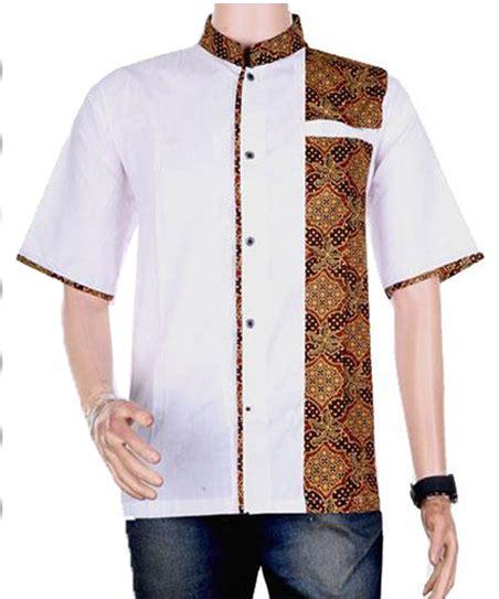 Baju Koko Batik Kombinasi busanamuslim 5 baju koko batik kombinasi polos galeri