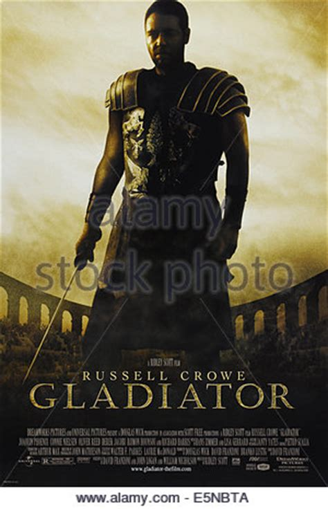 gladiator film usa russell crowe poster gladiator 2000 stock photo royalty